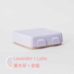 【台灣製】2angels 矽膠拼圖餐盤 (薰衣草紫)