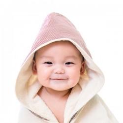 (預訂)【台灣製】Nizio 小蘑菇天然棉紗浴巾(紅色)