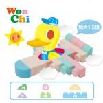 【8月限定優惠】Pato Pato 動物園配對拼圖 + WonChi 安全軟積木套裝 25PCS
