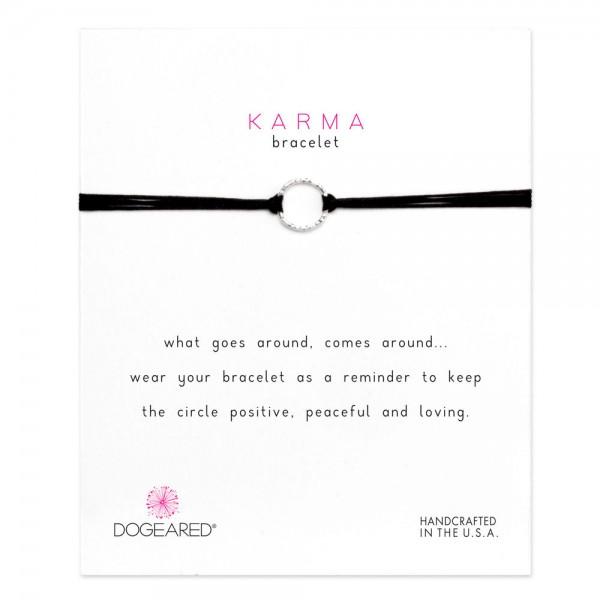美國|Dogeared karma sparkle black silk cord bracelet 閃耀圓圈。黑色手繩