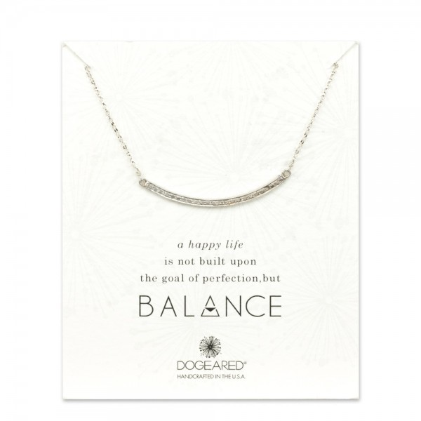 美國|Dogeared balance large textured bar necklace 平衡生活。項鏈