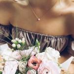 美國 | Dogeared here comes the bride small pearl necklace