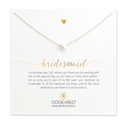 美國 | Dogeared bridesmaid small pearl necklace