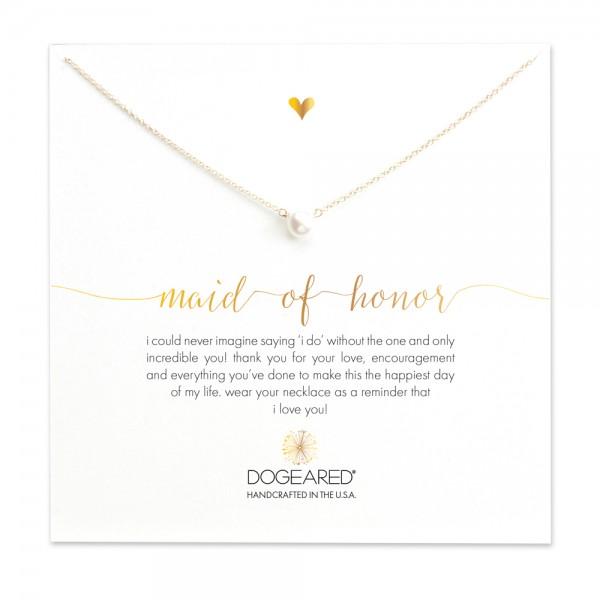 美國   Dogeared maid of honor small pearl necklace