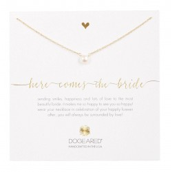 美國 | Dogeared here comes the bride small pearl necklace