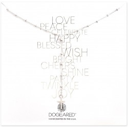 美國|Dogeared beaded Y simple cross necklace 信仰的十字。項鏈