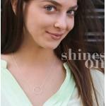美國|Dogeared medium sparkle karma necklace 閃耀中號圓圈。項鏈