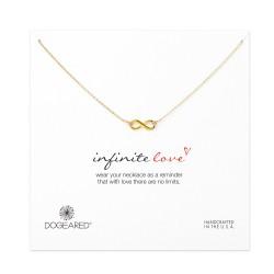 美國|Dogeared infinite love necklace, gold 無限愛。項鏈(金色)