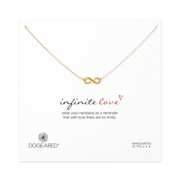 美國|Dogeared infinite love necklace, gold 無限愛。項鏈(金色)