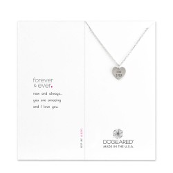 "美國|Dogeared ""for ever"" engraved heart necklace 永遠的心。項鏈"