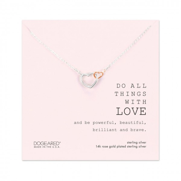 美國|Dogeared do all things with love necklace 愛心。項鏈