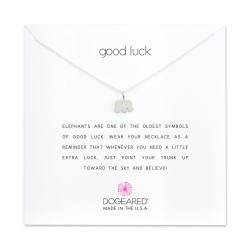 美國 | Dogeared good luck elephant necklace 幸運大象。項鏈