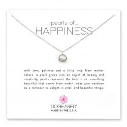 美國 | Dogeared pearls of happiness bezel-set pearl pendant necklace 幸福之包邊珍珠。項鏈