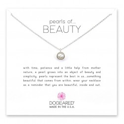 美國 | Dogeared pearls of beauty bezel-set pearl pendant necklace 美麗之包邊珍珠。項鏈