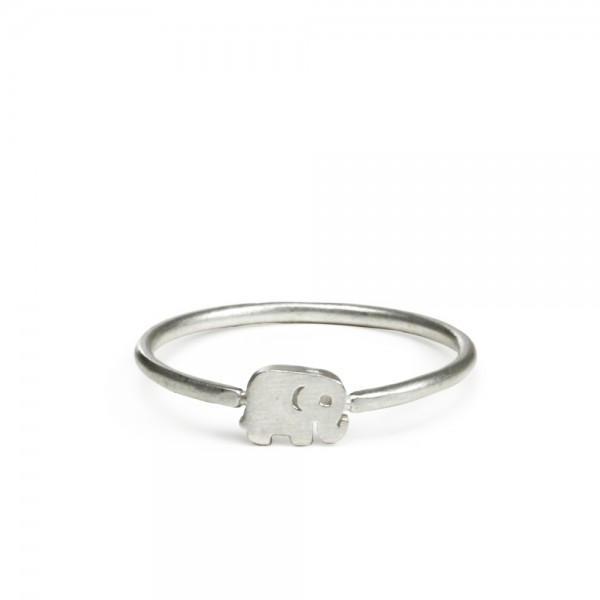 美國|Dogeared good luck elephant ring 幸運大象。戒指