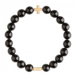 美國 | Charged Jewelry Onyx & Gold Elastic Bracelet 黑瑪瑙手鏈