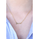 Lucky Feather Shine Bright Arrow Necklace