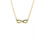 Lucky Feather Shine Bright Infinity Necklace