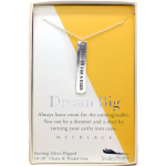 Lucky Feather Dreamer and a Doer Necklace
