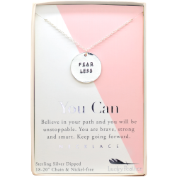 Lucky Feather Fear Less Necklace