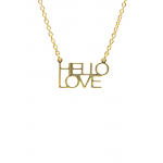 Lucky Feather Hello Love Necklace