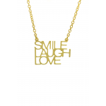 Lucky Feather Smile Laugh Love Necklace